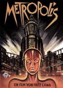 Póster de la versión original de Metrópolis de Fritz Lang